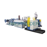 Steel reinforced spiral corrugated pipe production line