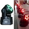 newly 5X15W RGBAW UV 6 colors color changing LED christmas lights mini moving head