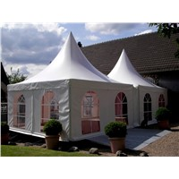 Fire Resistant Aluminum Alloy Pagoda Garden Tent With Romantic Decoration