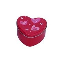 Heart shape gift package chocolate tin