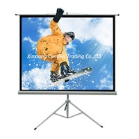 High quality portable tripod projection screen fast fold self lock projector screen outdoor screens