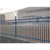 Hot dip galvanized pipe fence