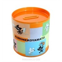 Round coin bank/money tin coin