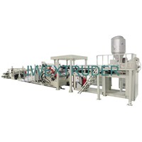 Soft/rigid PVC sheet extrusion line