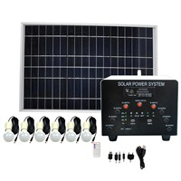 60W Solar Panel 24AH AGM Battery DC Solar Energy Systems With MP3&Radio FS-S204