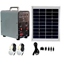 8W Solar Panel 4.5AH Deep Cycle AGM Battery Portable DC Solar Energy Systems for Lighting FS-S902