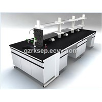 High quality pedestal & hanging wood & steel lab furniture and fitting, lab workbench