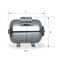 Scf19L-Scf100L Stainless Steel Horizontal Pressure Tanks for Pumps