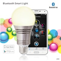 WiFi smart intelligent bluetooth LED bulb, multicolor RGB RGBW bulb