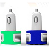 Wireless Three USB Socket Mobile Phone Car Charger