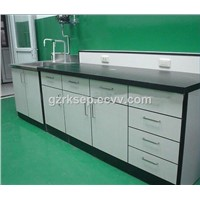 Laboratory engineering steel and wood structure wall mounted school lab bench