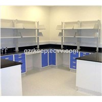 Biology All steel dental lab wall work bench with high cabinet
