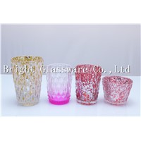 nice design colorful glass candle holder, candle container cheap