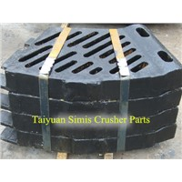 High manganese steel casting crusher parts for sale