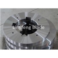 Circular slitting machine blade for cutting metal