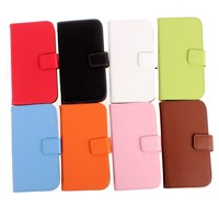 S6 Wallet Case Folio Stand Genuine Leather Cover for Samsung Galaxy S5 iPhone 5S 6 6S Plus I9600C26