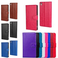 Wallet Stand PU Leather Case Flip Cover for Sony Xperia Z4 Z3 E4 E3 Compact Mini SZ4C07