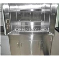 Stainless steel chemistry laboratory fume exhaust hood