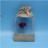 Yuanjie wholesale customized size burlap jute abg with window