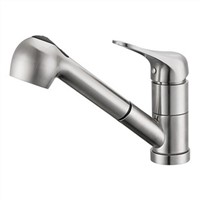 "Kitchen Sink Faucet with 10-1/8"" Pullout Spray Spout"