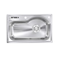 Undermounted kitchen sink single bowl stainless steel