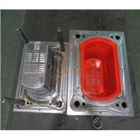 custom oem injection plastic shopping basket mould