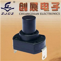 Round self-locking plastic switch,switch push button/momentary push switch/self lock button switch