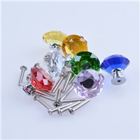 30mm Clear Diamond Crystal Kitchen Cabinet Knobs Rhinestone Drawer Pulls Lot