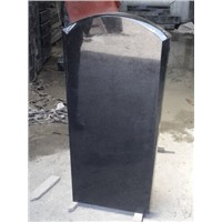 JD-12 Black granite monument with round top.
