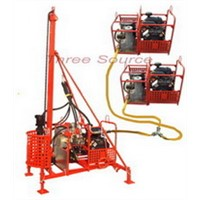 Reinforced portable drilling rig with DTH hammer