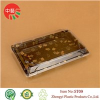 plastic food sushi packaging take away box with lid