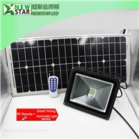 10W RF remote solar LED flood lights dimmable RF led flood light solar panel led flood light remote