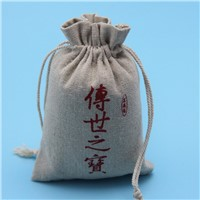 wholesale jute burlap drawstring bag for coffee packing