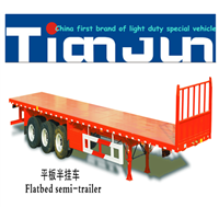 Container Flatbed Semi Trailer Manufacturer 3 Axles Container Flatbed Trailer