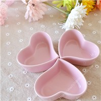 Pink Heart Shape Ceramic candle containers, candle jars, candle vessels