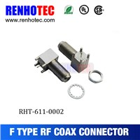 factory supplier rf connector F type female PCB connector