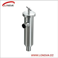 sanitary stainless steel pipeline angle type welding filter