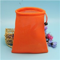 wholesale colorful mesh drawstring bag