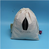 customzied size and logo printed small cotton jewelry bag with drawstring