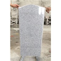 Obelisk figured G603 granite upright tombstone
