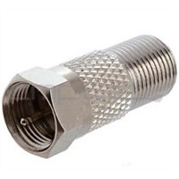 F male to F female RF coaxial connector plug