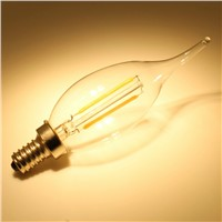2w 4w 6w Dimmable Filament  LED Candle Light Bulb with ETL