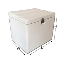 88L White Color Scooter FRP Food Delivery Box