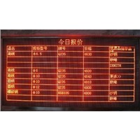 2016 new product F3.75 indoor single color lattice LED display screen