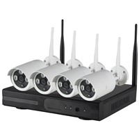 WiFi ip camera with NVR Kit,720P Wifi ip camera+4ch 2.4G wireless NVR.with or w/o network workable
