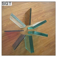 4.38mm-38.38mm Clear/ Colored/ Tempered PVB/ EVA Laminated Glass with CE, Csi, SGS