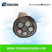 5X1.5 0.6/1KV XLPE PE insulated power cable Aluminum
