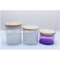 prefect nice white candle holder with bamboo/ wood lid wholesale