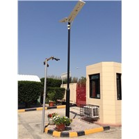 outdoor solar street light wiht motiong sensor integrated all in one solar led street light