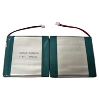 Polymer Lithium Battery Pack 7.4V 1050mAh